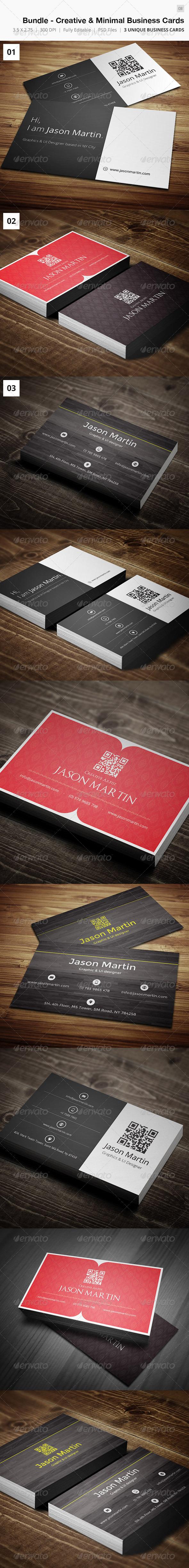 GraphicRiver Bundle Minimal & Creative Business Cards 08 4988522
