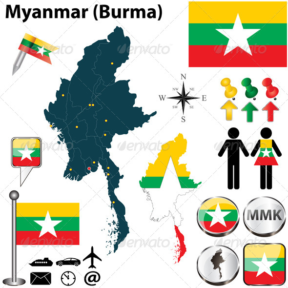 GraphicRiver Map of Myanmar 4988682
