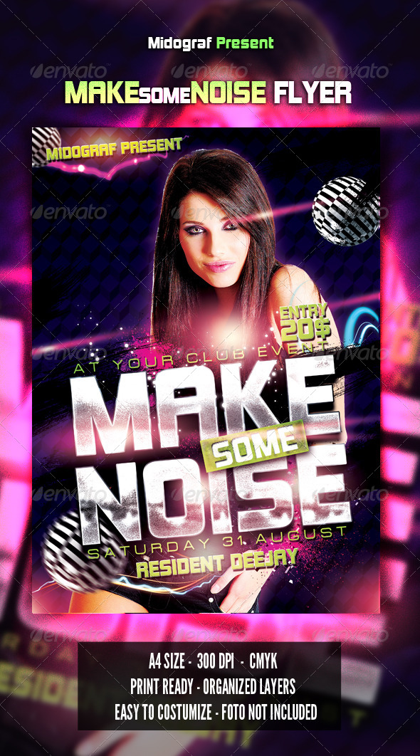 GraphicRiver Make Some Noise Flyer 4936716
