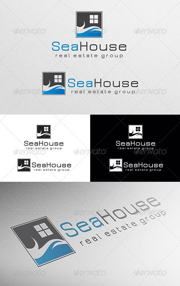 GraphicRiver Sea House Logo 4975380