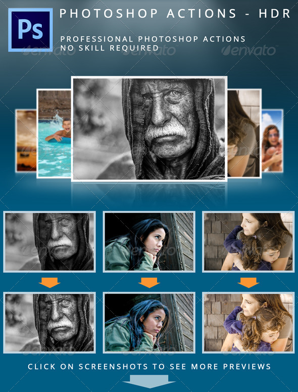 Photoshop HDR Actions - Photo Effects Actions