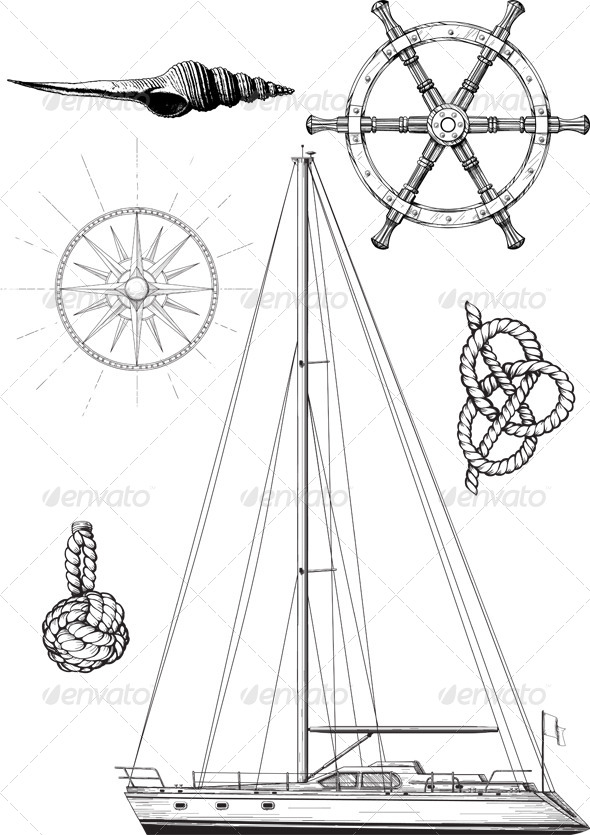 GraphicRiver Yacht Set 4989541
