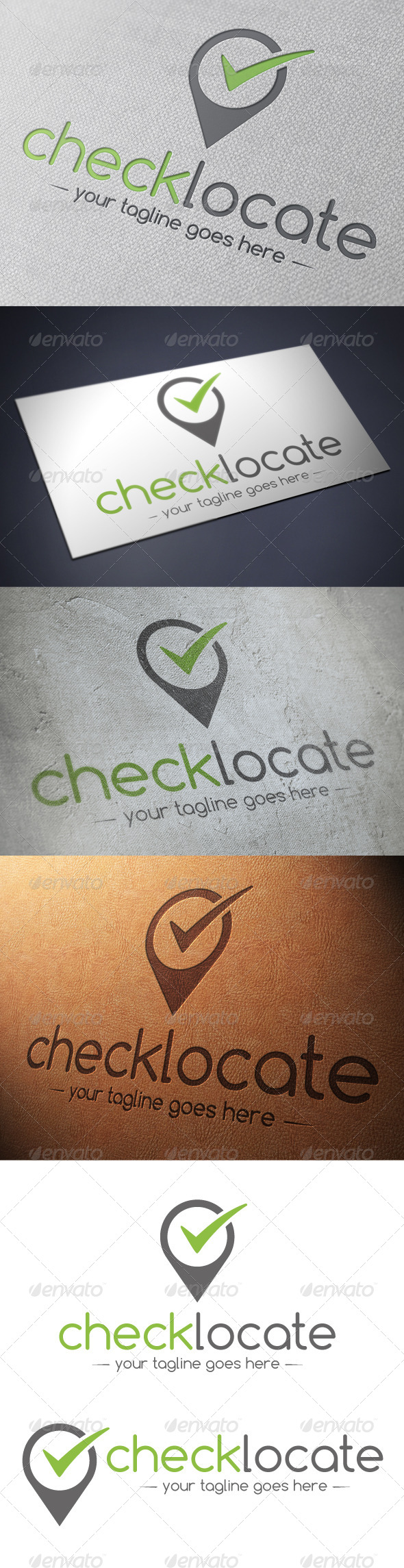 Locator Tick Check Mark Logo Template - Symbols Logo Templates