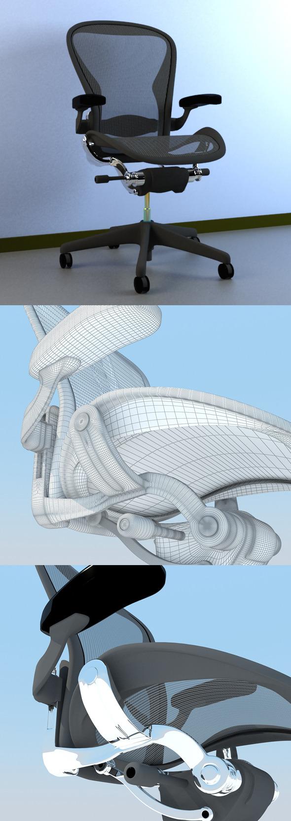 3DOcean Aeron Work Chair Herman Miller MAX 2011 4989792