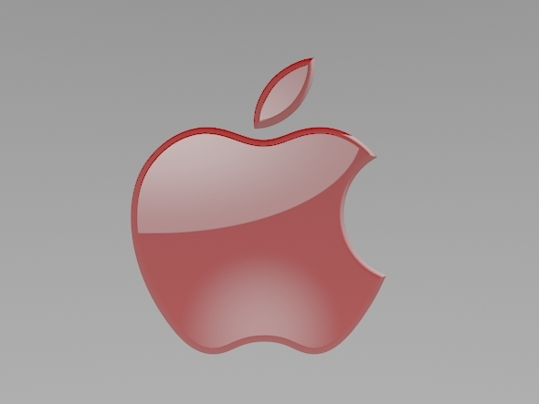 Apple Red Logo - 3DOcean Item for Sale
