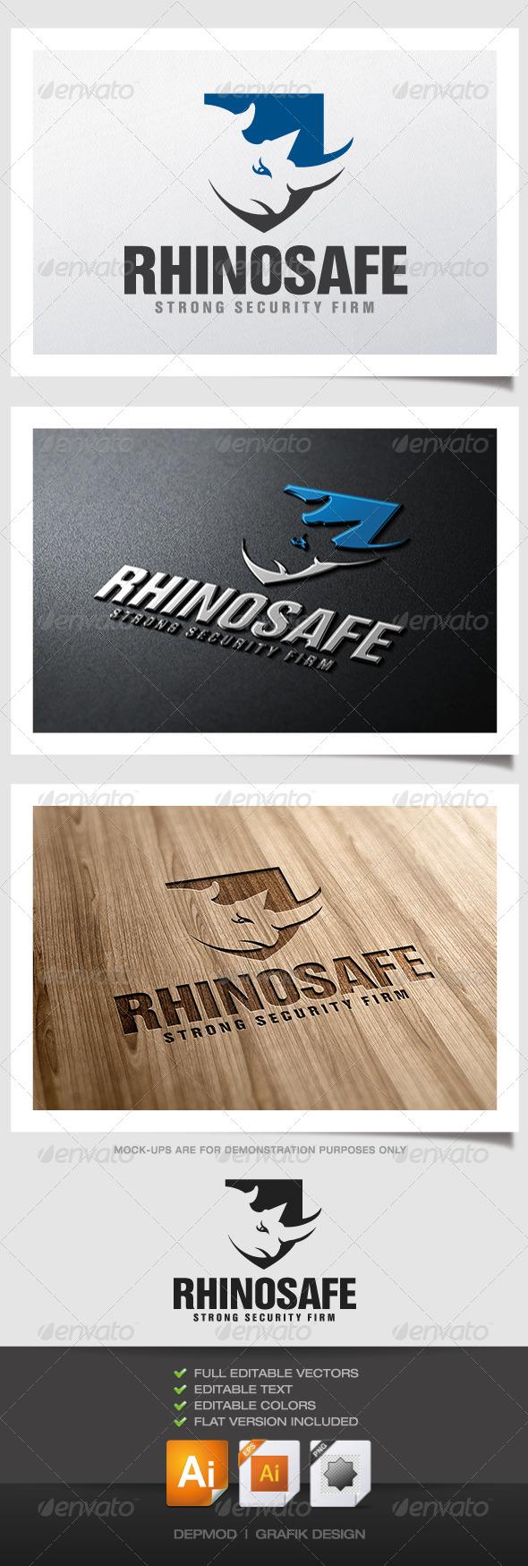 GraphicRiver Rhino Safe Logo 4990329