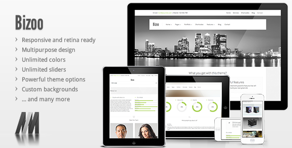 Bizoo - Responsive Business WordPress Theme