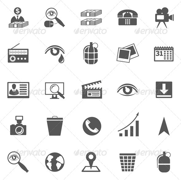 GraphicRiver Business Gray Icon Set 4990626