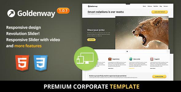 Goldenway - Premium Responsive HTML5 Template