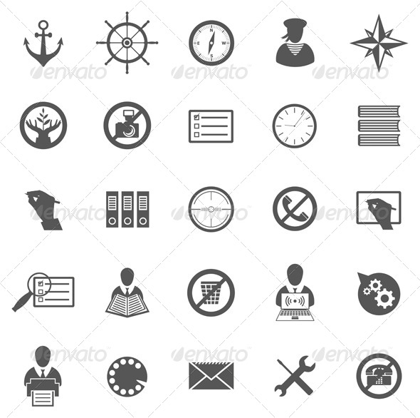 GraphicRiver Business Gray Icon Set 4990633