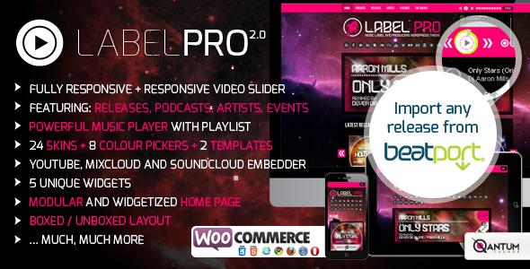 Music Label Pro: Responsive Music Wordpress Theme