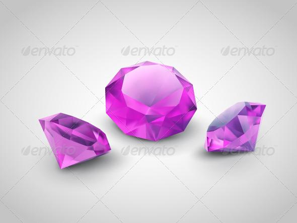 GraphicRiver Purple Gems 4990755