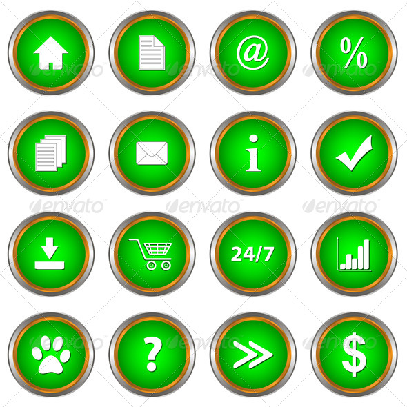 GraphicRiver Set of Green Buttons 4992432