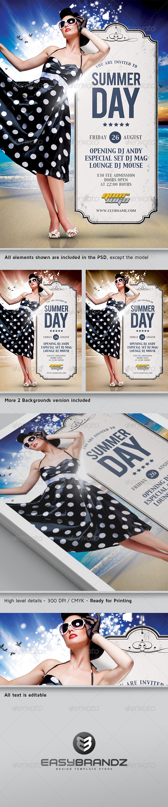 GraphicRiver Summer Day Flyer Template 4992935
