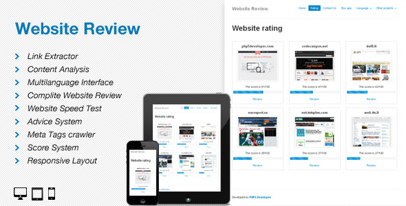 Website Review - CodeCanyon Item for Sale