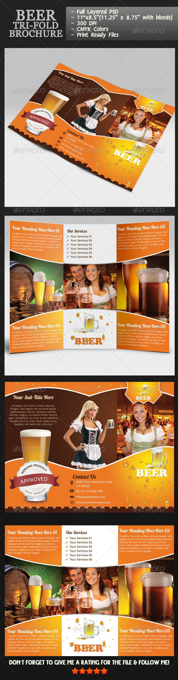 GraphicRiver Beer Tri-Fold Brochure 4558462