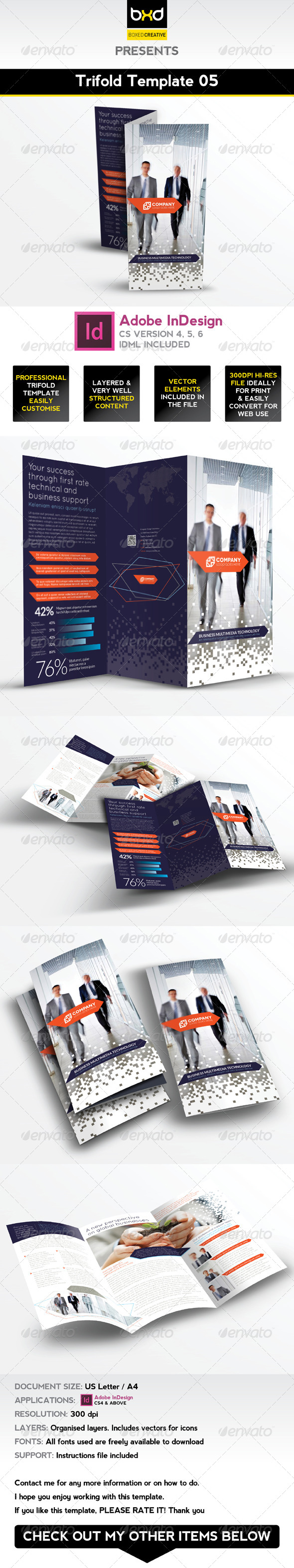 GraphicRiver Trifold Brochure Template 05 InDesign Layout 4994855