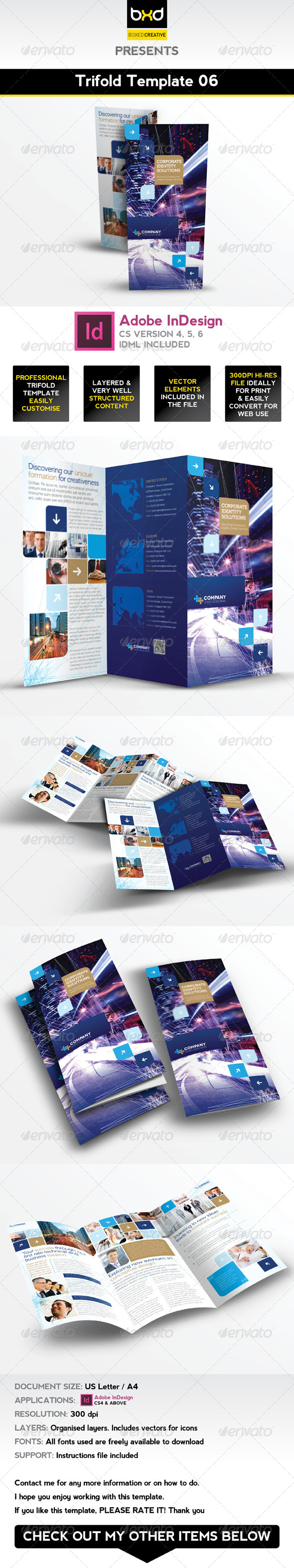 GraphicRiver Trifold Brochure Template 06 InDesign Layout 4994878