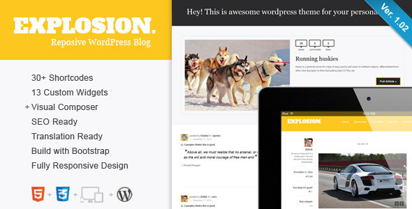 Explosion - Responsive WordPress Blog / Personal - Personal Blog / Magazine