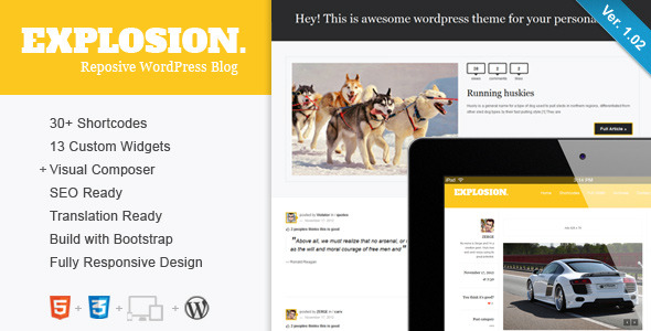 Explosion - Responsive WordPress Blog / Personal - Title Theme