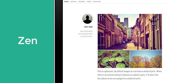 Zen – A Premium Theme for Tumblr | ThemeForest