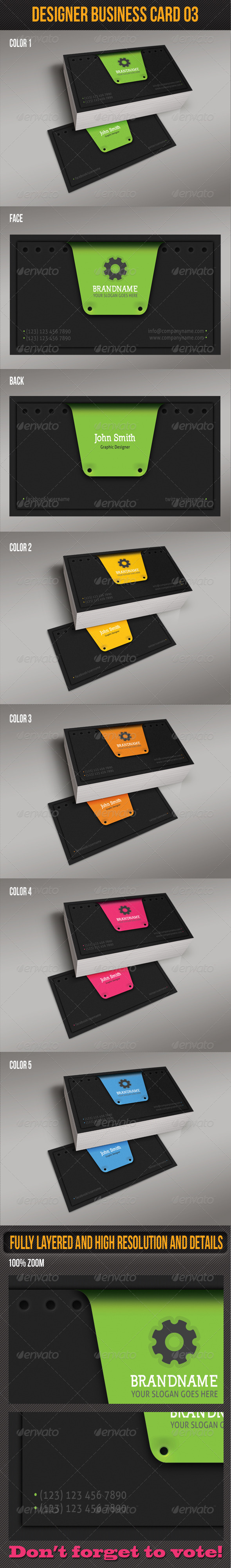 GraphicRiver Designer Business Card 03 4995218