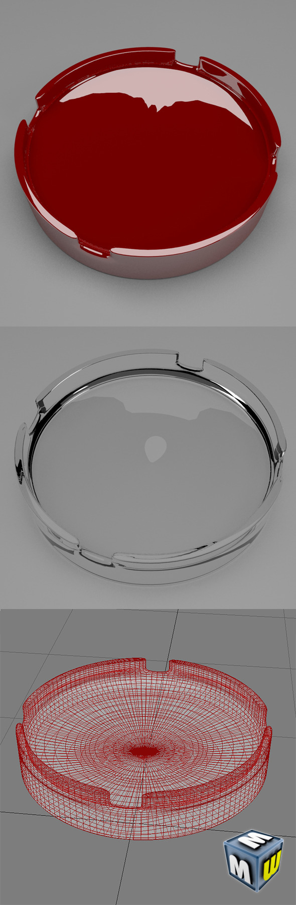 Ashtray1 Max 2011 - 3DOcean Item for Sale