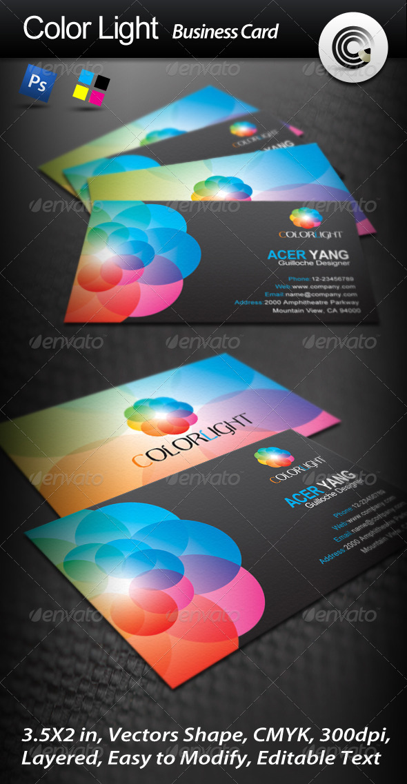Color Light Business Card