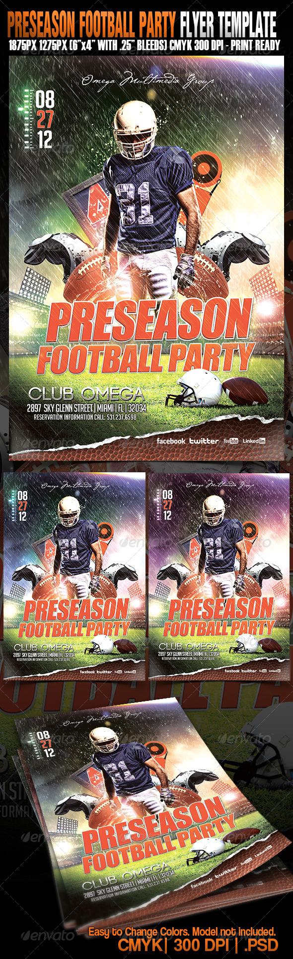 GraphicRiver Preseason Football Party 4995555