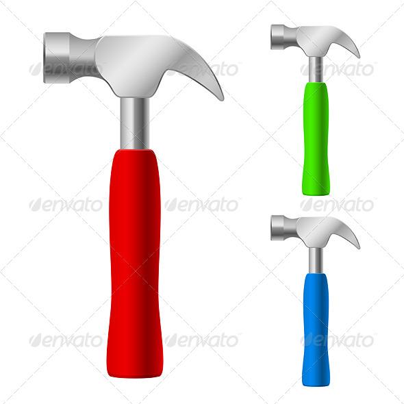 GraphicRiver Multi-Colored Hammers 4995768
