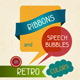 Ribbons and speech bubbles in retro colors. - GraphicRiver Item for Sale