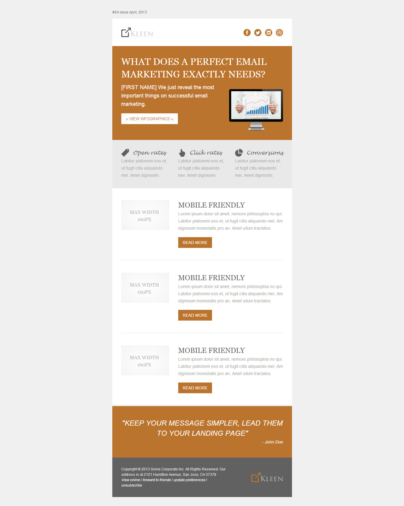 Responsive Modern Email Template - KLEEN