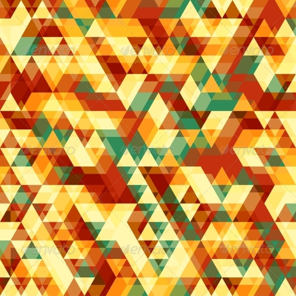 GraphicRiver Retro Abstract Pattern with Triangles 4995966