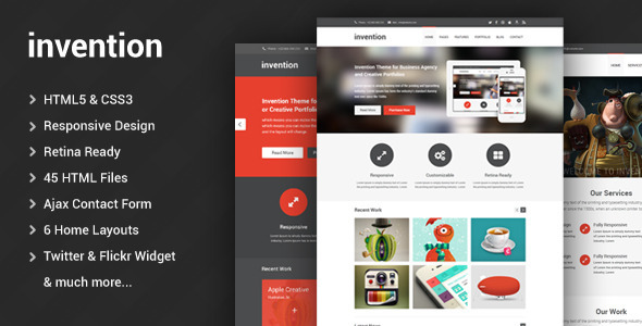 ThemeForest Invention Responsive HTML5 Template 4974359