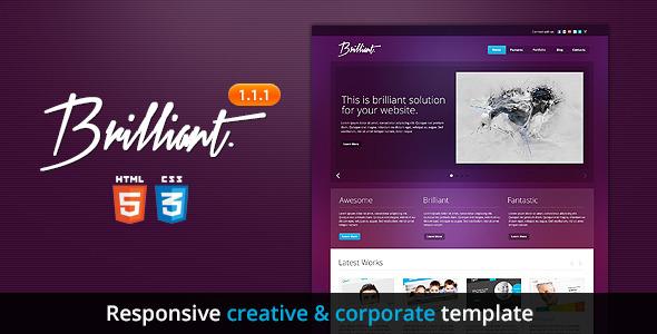 Brilliant - Premium Responsive HTML5 Template