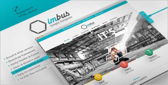ThemeForest imbus Simple HTML Template 4983889