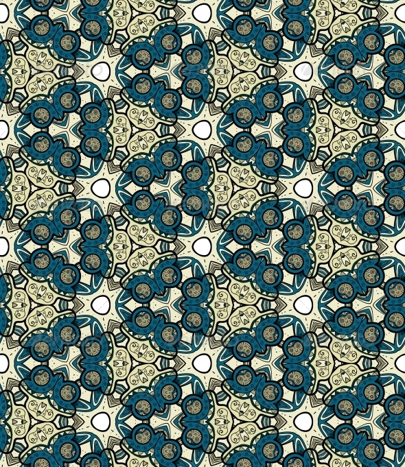 GraphicRiver Seamless Pattern with Trees 4996123