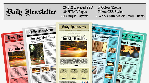 Daily Newsletter HTML Email Template