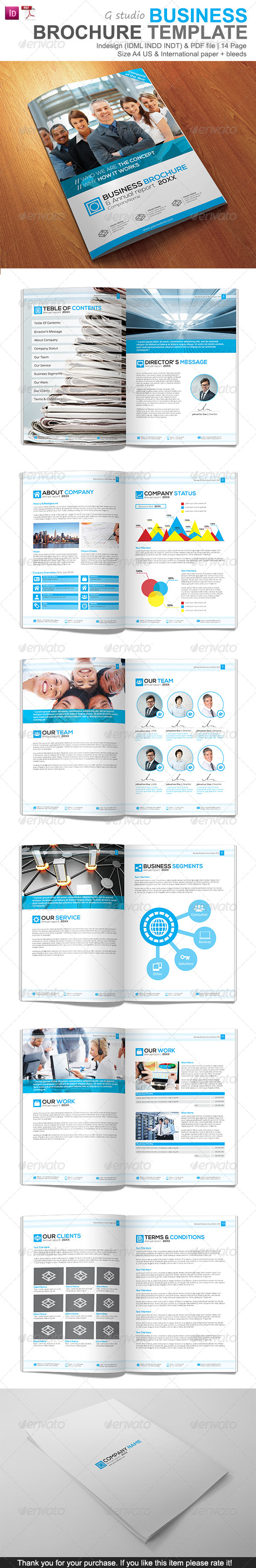 Gstudio Business Brochure Template - Corporate Brochures