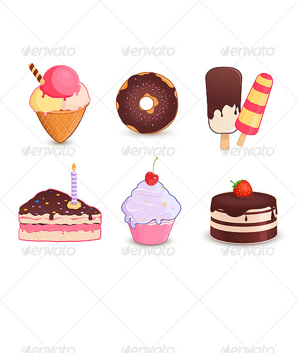 GraphicRiver Desserts Icon Set 4996541