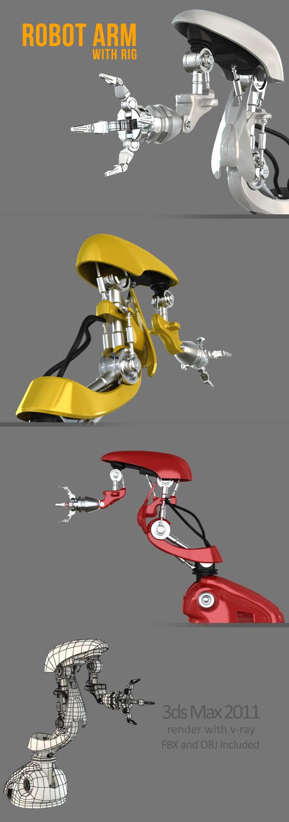 3DOcean Robot Arm 4996683
