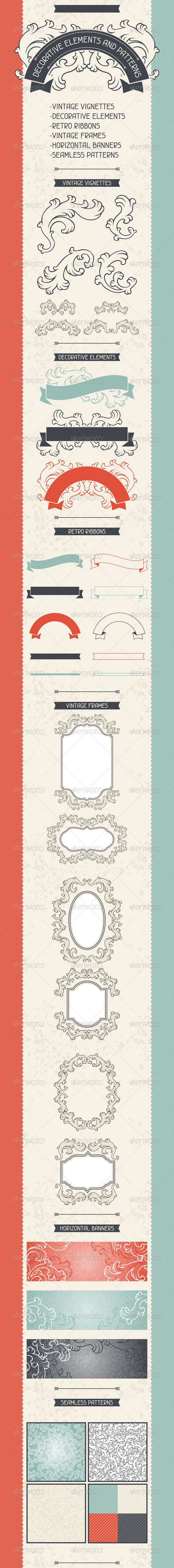 GraphicRiver Decorative Elements and Patterns 4996734