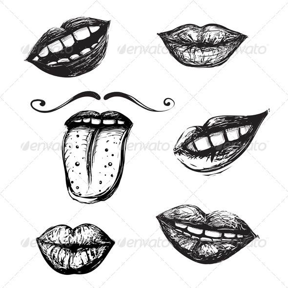 GraphicRiver Smile and Mouth Drawing Collection 4996743