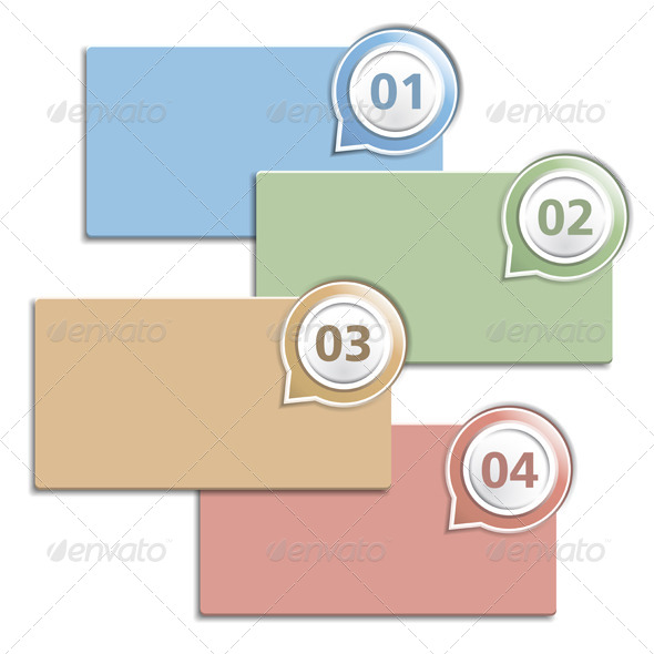GraphicRiver Four Banner with Numbers 4996915