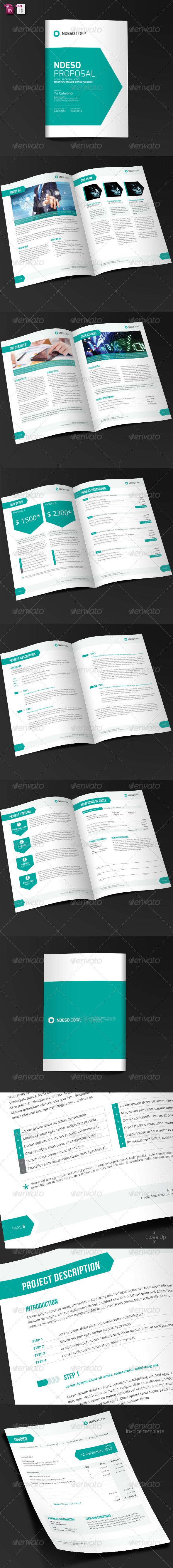 GraphicRiver Ndeso Proposal and Invoice Template 4940656
