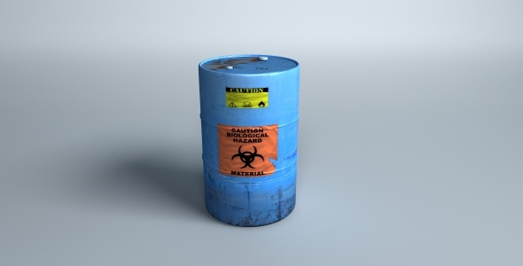 3DOcean Toxic Waste Barrel 515308