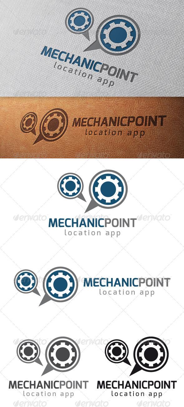 GraphicRiver Mechanic Locator Logo Template 4997387