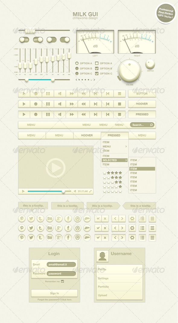 GraphicRiver Milk GUI 4997388
