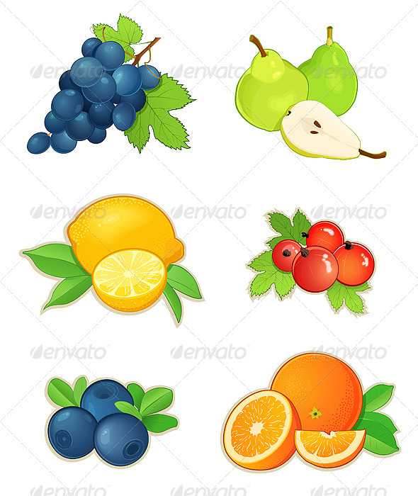 GraphicRiver Set of Fruits 4997729