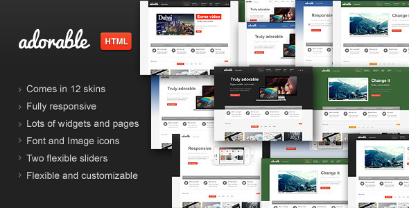 ThemeForest Adorable Business Services Portfolio HTML theme 4990770